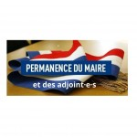 PERMANENCES MAIRE / ADJOINT.E.S AVRIL 2021